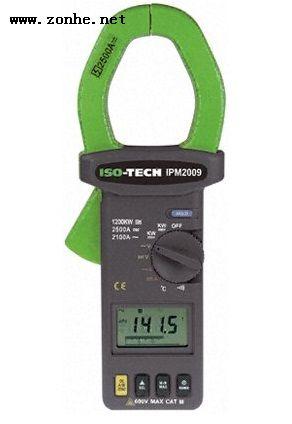 钳型表ISO-TECH IPM2009 测量最大︰2100A ac交流电流, 600V ac交流电压
