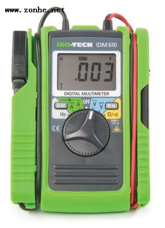 数字万用表ISO-TECH IDM610 100 A ac 600 V ac带整体型导线和电流钳