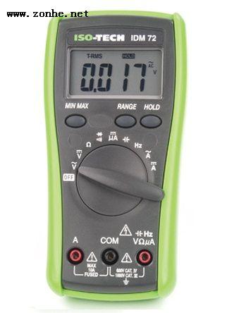 数字万用表ISO-TECH IDM72 10 A ac 750 V ac