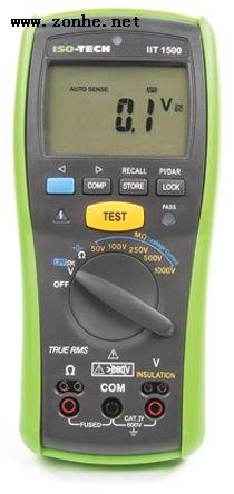 绝缘测试仪ISO-TECH IIT1500 20GΩ CAT IV 600 V 1000V, 200